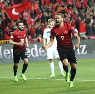 Türkiye-Finlandiya karşılaşmasından kareler