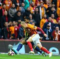 Galatasaray-Fenerbahçe karşılaşmasından kareler