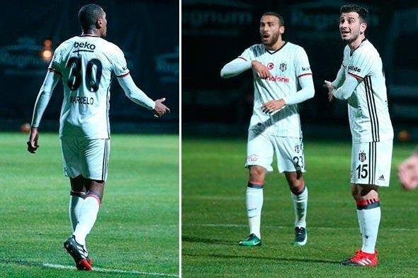 Beşiktaş'ta savunma dağıldı! Oyuncular tartıştı...
