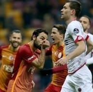 Galatasaray-Gençlerbirliği karşılaşmasından kareler