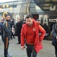Galatasaray kafilesi Trabzon'a gitti