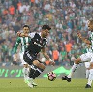 Bursaspor-Beşiktaş karşılaşmasından kareler