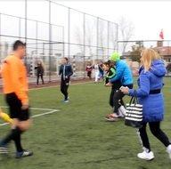 Kayseri'de kadın futbolcular kavga etti