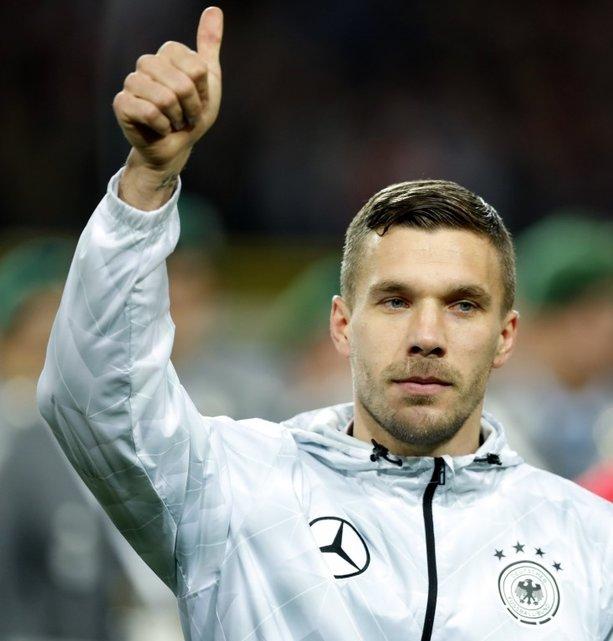 Podolski'ye muhteşem veda!