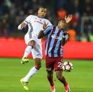 Trabzonspor-Beşiktaş karşılaşmasından kareler
