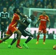 Beşiktaş-Kayserispor karşılaşmasından kareler