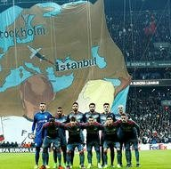 Beşiktaş maçına damga vuran koreografi